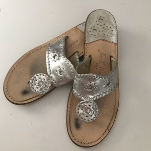 Silver Jack Rogers. Size 7